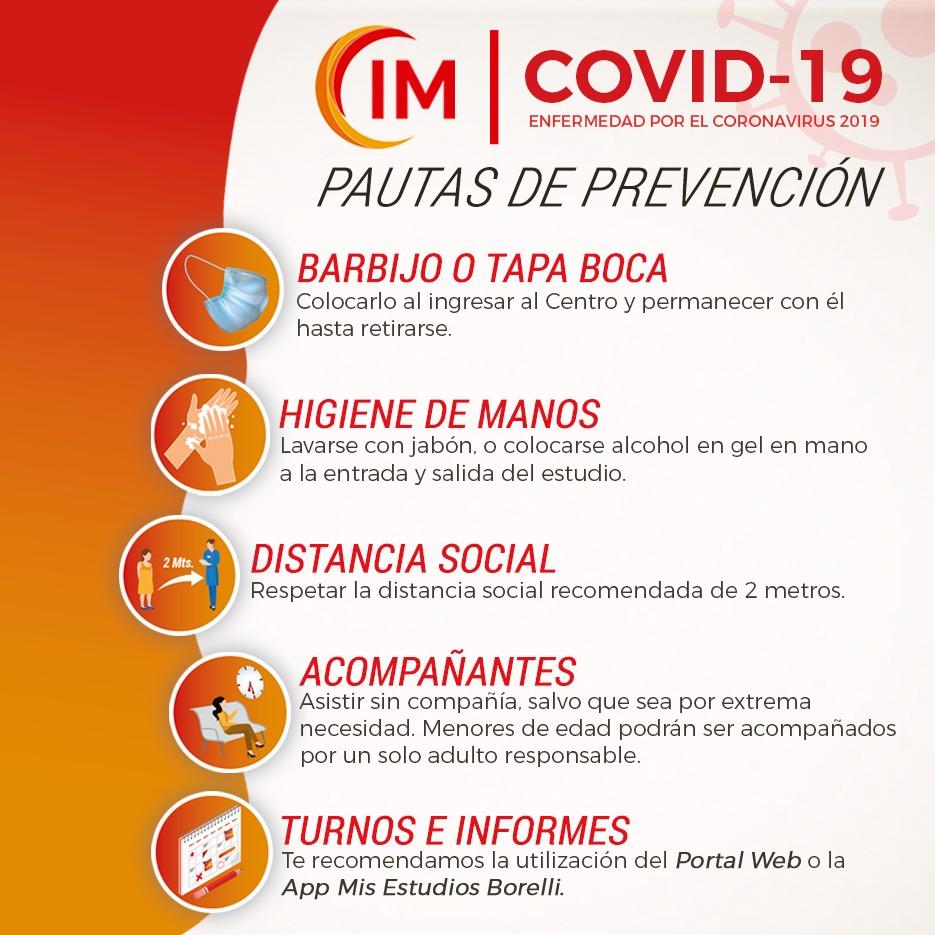 COVID-19: Pautas de prevención